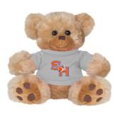 Plush Big Paw 8 1/2 inch Brown Bear w/Grey Shirt-SH Paw Official Logo