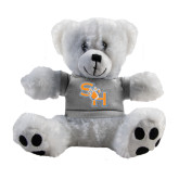 Plush Big Paw 8 1/2 inch White Bear w/Grey Shirt-SH Paw Official Logo