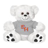 Plush Big Paw 8 1/2 inch White Bear w/Grey Shirt-SH Paw Official Logo