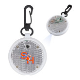 Clear Round Flashing Reflector Light-SH Paw Official Logo