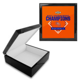 Ebony Black Accessory Box With 6 x 6 Tile-2017 Southland Conference Baseball Champions