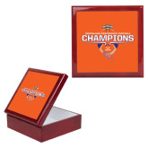 Red Mahogany Accessory Box With 6 x 6 Tile-2016 Southland Conference Football Champions