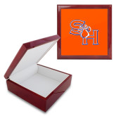 Red Mahogany Accessory Box With 6 x 6 Tile-SH Paw Official Logo