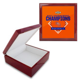 Red Mahogany Accessory Box With 6 x 6 Tile-2017 Southland Conference Baseball Champions
