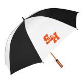 64 Inch Black/Whit Umbrella-Primary Athletics Mark