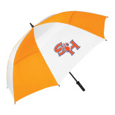 62 Inch Orange/White Vented Umbrella-SH Paw Official Logo