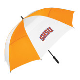 62 Inch Orange/White Vented Umbrella-Arched SHSU