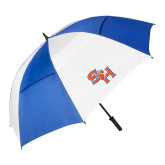 62 Inch Royal/White Vented Umbrella-SH Paw Official Logo