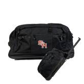 Urban Passage Wheeled Black Duffel-SH Paw Official Logo