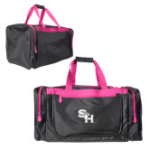 Black With Pink Gear Bag-SH Paw Official Logo