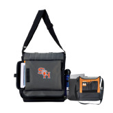 Impact Vertical Grey Computer Messenger Bag-SH Paw Official Logo