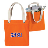 Allie Orange Canvas Tote-Arched SHSU