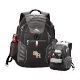High Sierra Big Wig Black Compu Backpack-SH Paw Official Logo