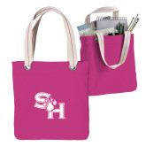 Allie Fuchsia Canvas Tote-SH Paw Official Logo