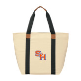 Natural/Black Saratoga Tote-SH Paw Official Logo