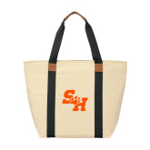 Natural/Black Saratoga Tote-Primary Athletics Mark