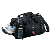 High Sierra Black Switch Blade Duffel-SH Paw Official Logo