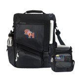 Momentum Black Computer Messenger Bag-SH Paw Official Logo