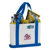 Contender White/Royal Canvas Tote-Official Logo