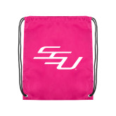 Pink Drawstring Backpack-SSU