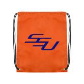 Orange Drawstring Backpack-SSU