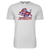 Next Level SoftStyle White T Shirt-Official Logo