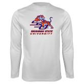 Syntrel Performance White Longsleeve Shirt-Official Logo