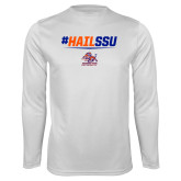 Syntrel Performance White Longsleeve Shirt-#HAILSSU