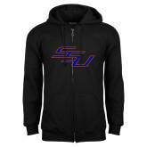 Black Fleece Full Zip Hoodie-SSU