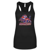 Next Level Ladies Black Ideal Racerback Tank-Official Logo