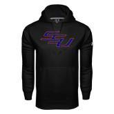 Under Armour Black Performance Sweats Team Hoodie-SSU