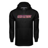 Under Armour Black Performance Sweats Team Hoodie-Horizontal Mark