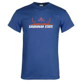 Royal T Shirt-Football Field Design