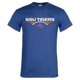 Royal T Shirt-Stacked Football Design
