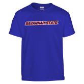 Youth Royal T Shirt-Wordmark