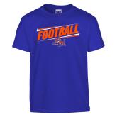 Youth Royal T Shirt-Football Design