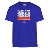Youth Royal T Shirt-Golf Design