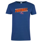 Ladies Royal T Shirt-Football Design
