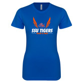 Next Level Ladies SoftStyle Junior Fitted Royal Tee-Track & Field Design