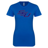 Next Level Ladies SoftStyle Junior Fitted Royal Tee-SSU