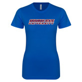 Next Level Ladies SoftStyle Junior Fitted Royal Tee-Horizontal Mark