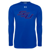 Under Armour Royal Long Sleeve Tech Tee-SSU