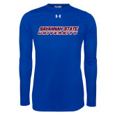 Under Armour Royal Long Sleeve Tech Tee-Horizontal Mark