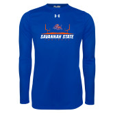 Under Armour Royal Long Sleeve Tech Tee-Football Field Design