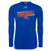 Under Armour Royal Long Sleeve Tech Tee-Football Design