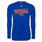 Under Armour Royal Long Sleeve Tech Tee-Football Design