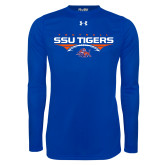 Under Armour Royal Long Sleeve Tech Tee-Stacked Football Design