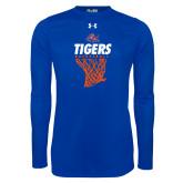Under Armour Royal Long Sleeve Tech Tee-Basketball Net Design