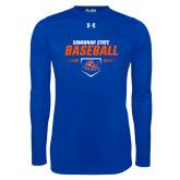 Under Armour Royal Long Sleeve Tech Tee-Baseball Design