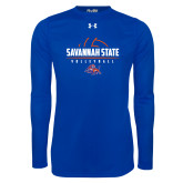 Under Armour Royal Long Sleeve Tech Tee-Volleyball Design